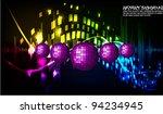 musical theme disco background... | Shutterstock .eps vector #94234945