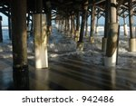 Under Pier With Incoming Tide