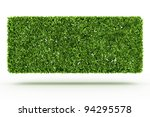 bush wall  isolated on white | Shutterstock . vector #94295578