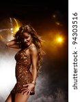 Portrait Of Dancing Girl On...