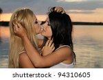 two beautiful girls posing in... | Shutterstock . vector #94310605