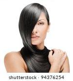 closeup portrait of a beautiful ... | Shutterstock . vector #94376254