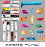 headers and bubbles for speech... | Shutterstock .eps vector #94379023