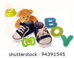 Baby Boy S Shoes With Teddy...