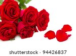 red roses isolated on a white background - stock photo