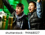 two guys watching sports at bar ... | Shutterstock . vector #94468027