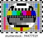pal tv test signal | Shutterstock .eps vector #94477519