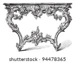 table  rococo style    vintage... | Shutterstock .eps vector #94478365