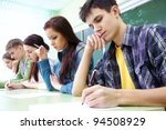 group of students takes the... | Shutterstock . vector #94508929