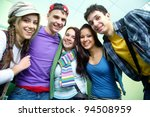 portrait of six smiling... | Shutterstock . vector #94508959