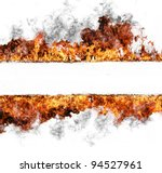 Fire Stripe  Isolated On White...