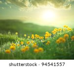 Stock photo meadow at morning 94541557