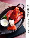 Lobster In Black Iron Pot