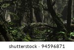 jungle scene with kind of... | Shutterstock . vector #94596871