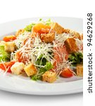 caesar salad with salmon.... | Shutterstock . vector #94629268