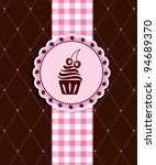 postcard with cupcake | Shutterstock .eps vector #94689370