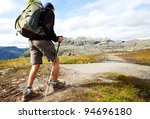 hike in norway mountains | Shutterstock . vector #94696180