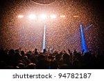 Festival Crowd Confetti...