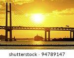 bay bridge over sunrise in... | Shutterstock . vector #94789147