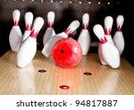 Bowling Strike   Ball Hitting...