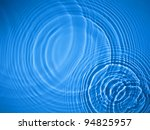 Blue Circle Water Ripple...
