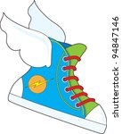 a multi colored sneaker with a... | Shutterstock .eps vector #94847146