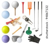 set of golf equipment isolated... | Shutterstock . vector #94867132