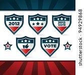 set of patriotic voting shields. | Shutterstock . vector #94929868