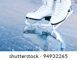 Tilted Blue Version  Ice Skate...