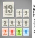 calendar sheets collection   Shutterstock .eps vector #94960159