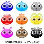 a set of alien themed avatars. | Shutterstock .eps vector #94978510