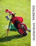golf clubs in golfbag and golf... | Shutterstock . vector #94987933