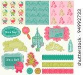 scrapbook design elements  ... | Shutterstock .eps vector #94992733