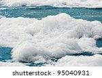 White Foam On A Sea Water...