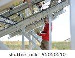 business man  engineer using... | Shutterstock . vector #95050510