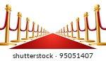 illustration of a red velvet... | Shutterstock .eps vector #95051407