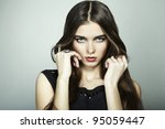 fashion portrait of young... | Shutterstock . vector #95059447