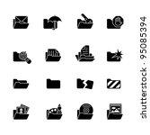 computer icon set | Shutterstock .eps vector #95085394