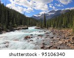 Rocky Mountains And River With...