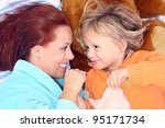 mother and son | Shutterstock . vector #95171734