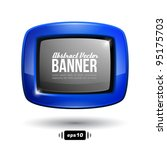 shiny blue square banner with... | Shutterstock .eps vector #95175703