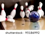 Bowling Strike   Ball Hitting...