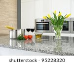 tomatoes  herbs  wine and... | Shutterstock . vector #95228320