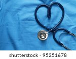 doctor coat with stethoscope | Shutterstock . vector #95251678