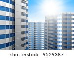 office building on a background ...   Shutterstock . vector #9529387