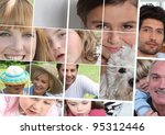 children  parents and... | Shutterstock . vector #95312446