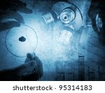 science and medical background   Shutterstock . vector #95314183