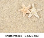 Starfish In The Beach Sand  ...