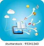 e book tablet pc cloud...