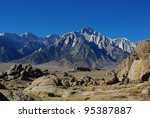 sierra nevada and alabama hills ... | Shutterstock . vector #95387887